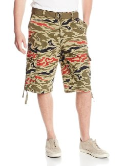 Men's All Over Tiger Camo Print Shorts by Southpole in Need for Speed