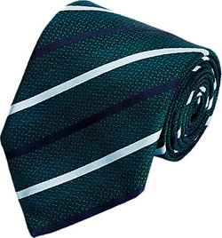 Diagonal-Striped Jacquard Necktie by Ermenegildo Zegna in Suits