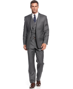 Charcoal Vested Suit by Ralph Lauren in Anchorman 2: The Legend Continues