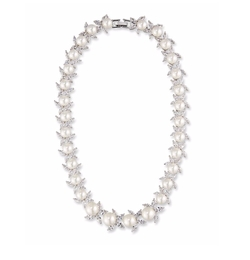 Monarch Crystal & Pearly Bead Choker Necklace by Fallon in Pitch Perfect 3