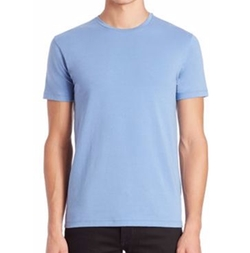 David Solid Crewneck Tee by Patrick Assaraf in New Girl