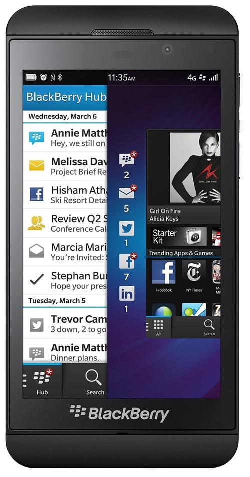 Z10 Verizon Phone by BlackBerry in The Big Bang Theory - Season 9 Episode 1