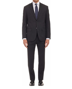 Worsted Wool Two-Button Suit by Maurizio Baldassari in Snowden