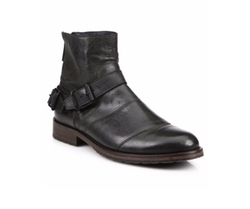 Trailmaster Double-Buckle Leather Boots by Belstaff in Jason Bourne