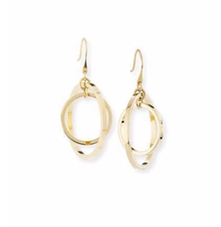Golden Orbit Drop Earrings by Lele Sadoughi in Baywatch