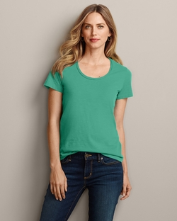 Slub Short-Sleeve Scoop-Neck T-Shirt by Essential in The Longest Ride