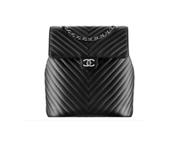 Calfskin Leather Chevron Urban Spirit Backpack by Chanel in Keeping Up With The Kardashians