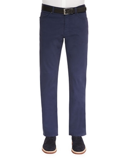 Five-Pocket Stretch-Cotton Pants by Ermenegildo Zegna in Inherent Vice