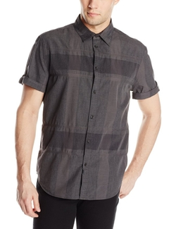 Men's Thunder Plaid Short-Sleeve Woven Shirt by Calvin Klein Jeans in The Great Indoors