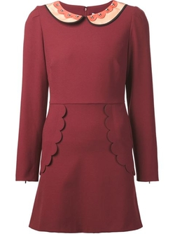 Scalloped Detail Dress by Red Valentino in The Mindy Project