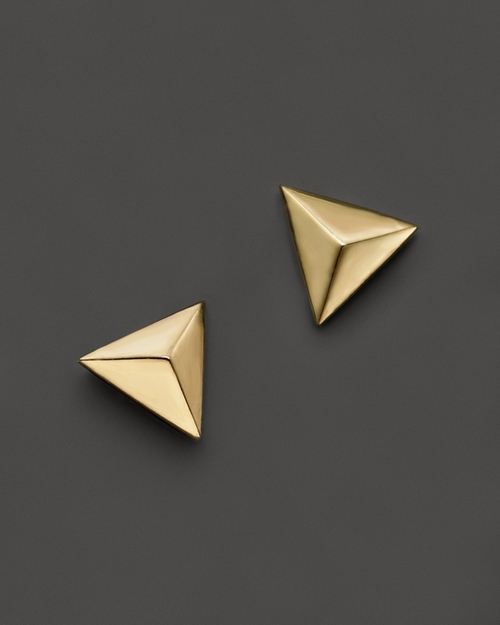 Triangle Pyramid Stud Earrings by Zoë Chicco in Pretty Little Liars - Season 6 Episode 5