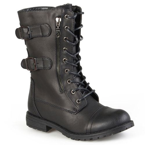 Cedes Combat Boots - Women by Journee Collection in Edge of Tomorrow