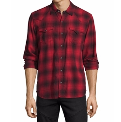 Western Plaid Long-Sleeve Shirt by True Religion in Sneaky Pete