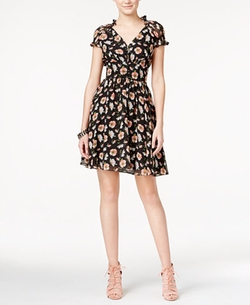 Floral-Print Fit & Flare Dress by Betsey Johnson  in How To Be Single