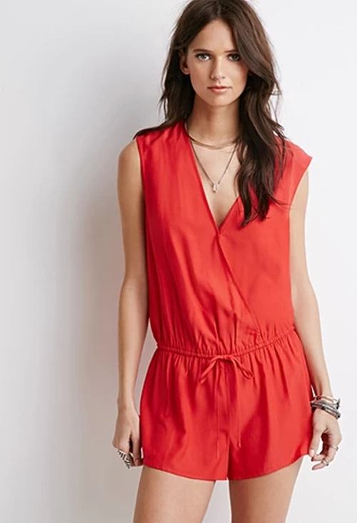Sleeveless Surplice Romper by Forever 21 in The Vampire Diaries - Season 7 Episode 1