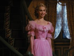 Custom Made Pink Chemise A La Reine Wedding Dress (Cinderella) by Sandy Powell (Costume Designer) in Cinderella