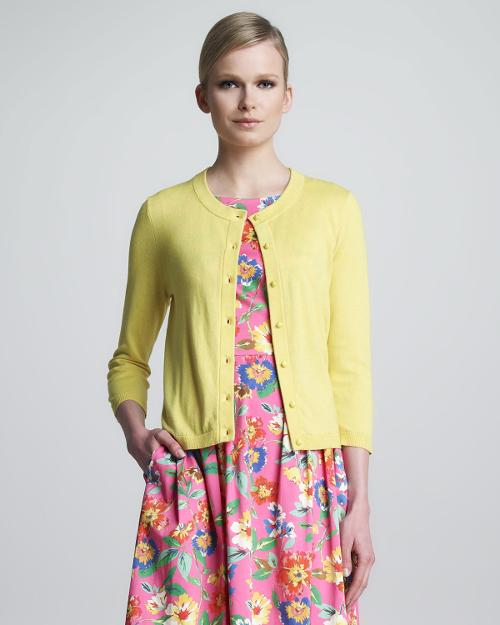 Sofia Bow-Back Cardigan, Donovan Yellow by Kate Spade New York in The Other Woman