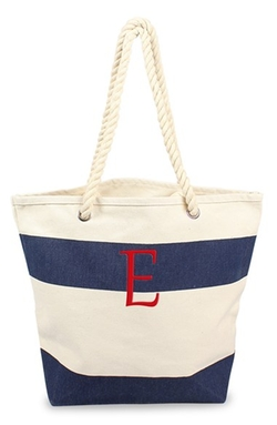 Personalized Stripe Canvas Tote Bag by Cathy's Concepts in Modern Family