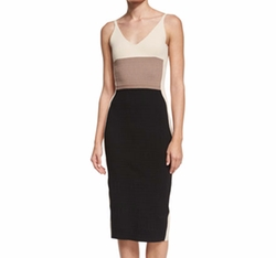Sleeveless Colorblock Sheath Dress by Narciso Rodriguez in Empire