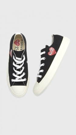 Low Top Converse by Comme Des Garçcons Play in Poltergeist