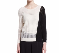 Colorblock Open-Weave Sweater by Magaschoni in How To Get Away With Murder