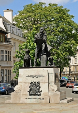 London, United Kingdom by 1st Marquess of Westminster Statue in Survivor