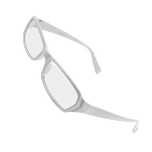 Plastic Frame Arms Rectangle Lens Plano Glasses by Rosallini in We're the Millers