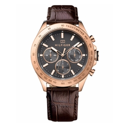 Men's Sophisticated Sport Leather Strap Watch by Tommy Hilfiger in The Night Manager