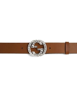 Studded Interlocking G Buckle Belt by Gucci in Entourage
