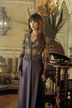 Custom Made Lace Bodice Dress by Lindy Hemming (Costume Designer) in The World is Not Enough
