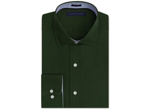 Solid Poplin Dress Shirt by Tommy Hilfiger in Drive