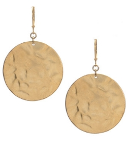 Textured Round Drop Earrings by Kenneth Cole New York in Boyhood
