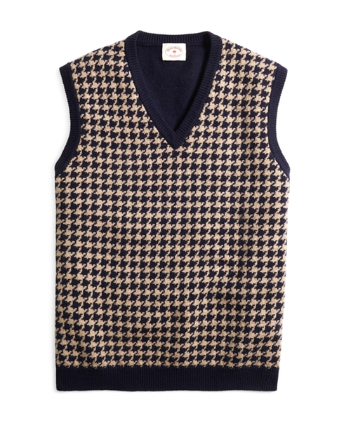 Houndstooth Sweater Vest by Brooks Brothers in Scream Queens