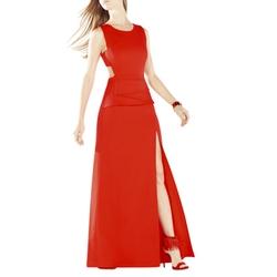 BCBG Max Azria Kiara Sleeveless Peplum Gown