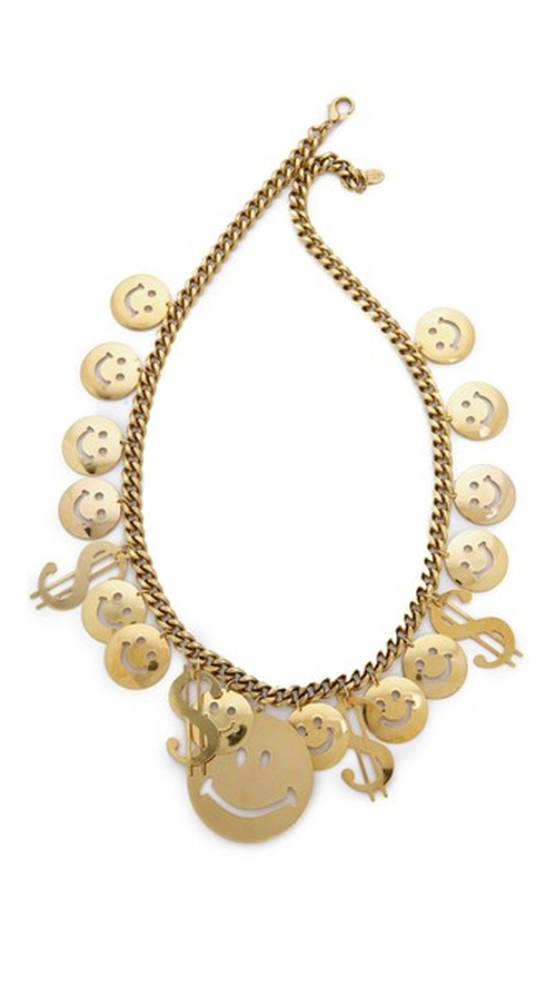 Have A Nice Day Necklace by Erickson Beamon in Scream Queens - Season 1 Episode 8