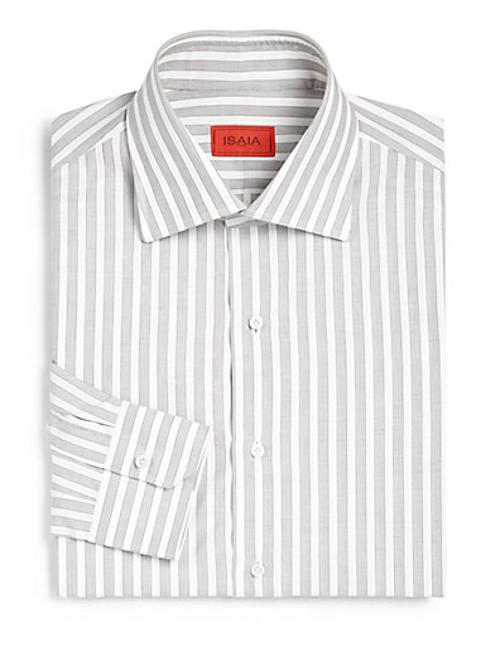 Striped Dress Shirt by Isaia in Yves Saint Laurent