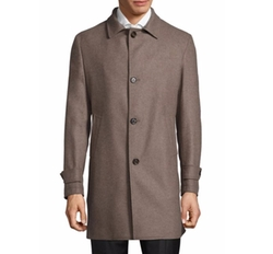 Single-Breasted Wool Car Coat by Eleventy in Quantico