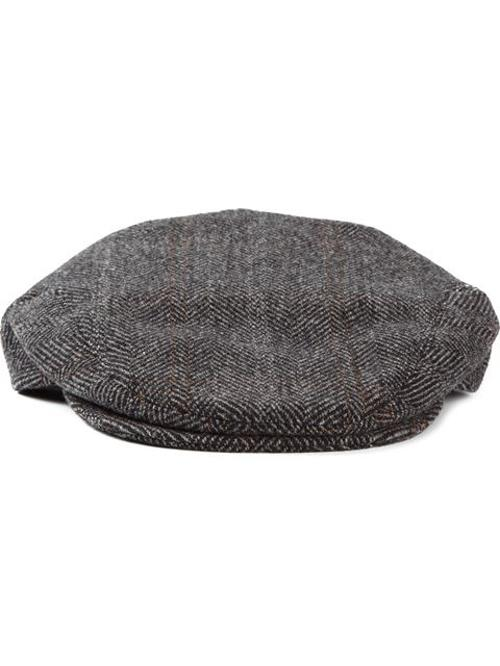 Herringbone Flat Cap by Dolce & Gabbana in Mortdecai