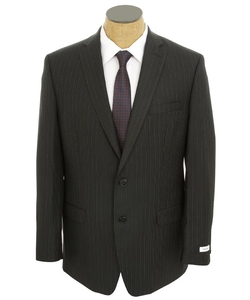 Men's Multi Stripe Slim Fit Wool Suit by Calvin Klein in The Martian