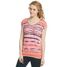 Embellished Tie Dye Scoopneck Tee by Chaus in Dolphin Tale 2