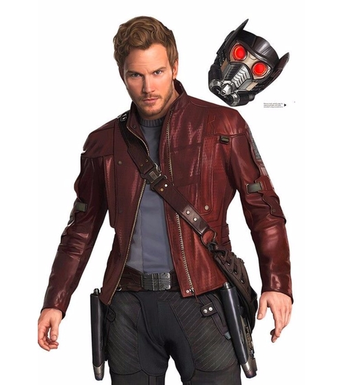 Custom Made Leather Jacket (Peter Quill / Star-Lord) by Alexandra Byrne (Costume Designer) in Guardians of the Galaxy