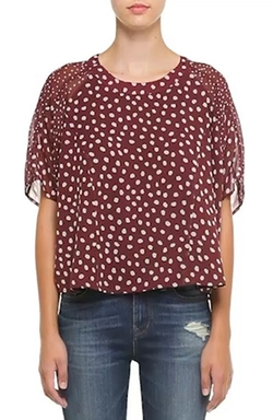 'Cheetah Dots' Silk Top by Madewell in Black-ish