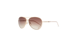 Metal Curved-Brow Aviator Sunglasses by Marc Jacobs in Rosewood