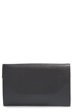 Angled Leather Day Clutch Bag by Halogen in Supergirl