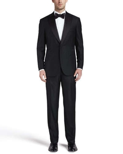 One-Button Peaked-Lapel Tuxedo Suit by Brioni in Life