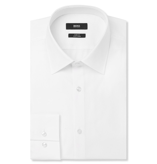 White Jacob Slim-Fit Cotton Shirt by Hugo Boss in Inherent Vice