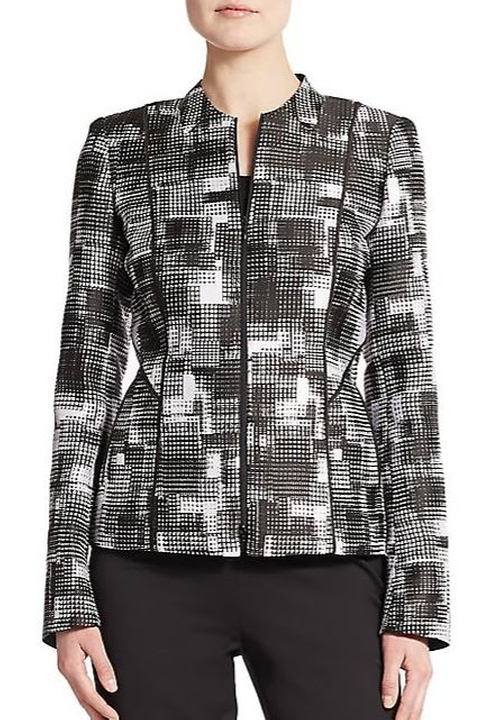 Graphic-Print Jacket by Lafayette 148 New York in The Good Wife - Season 7 Episode 7