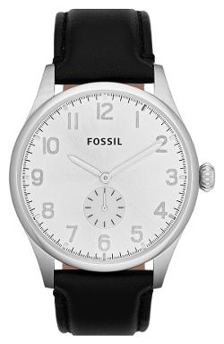 'The Agent' Leather Strap Watch by Fossil in What If