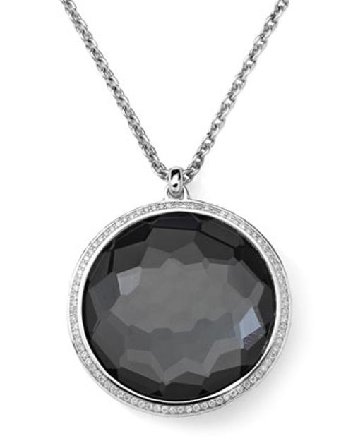 Pendant Necklace in Hematite & Diamonds by Ippolita Stella in Frank Miller's Sin City: A Dame To Kill For