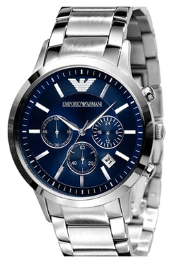 Stainless Steel Bracelet Watch by Emporio Armani in Suits